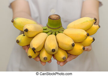 Fresh organic banana for healthy life