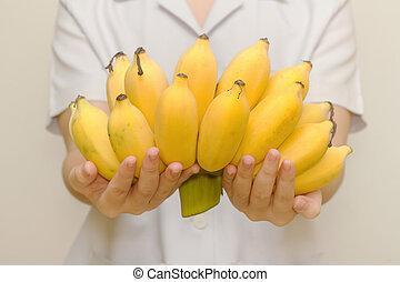 Fresh organic banana for healthy life
