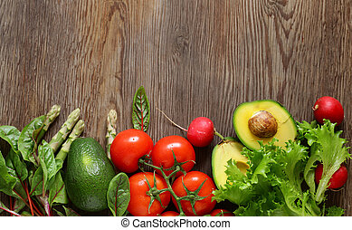 fresh organic vegetables for healthy eating