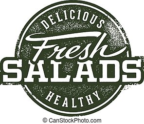 Fresh Salads Menu Stamp