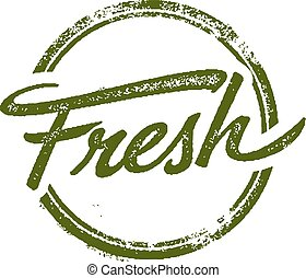Distressed Fresh rubber stamp image.