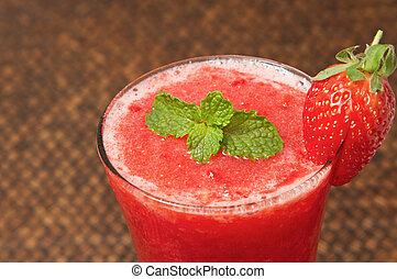 Fresh Strawberry smoothie , juice for healthy