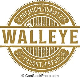 Fresh Walleye Restaurant Sign