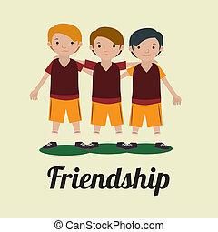 friendship, design over white background vector illustration