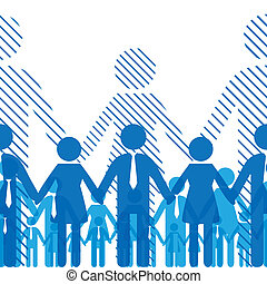 Business seamless gorizontal background friendship team people. Vector illustration. Company staff10