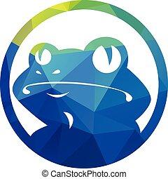 Frog vector logo design.