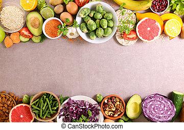 fruit and vegetable-frame or border