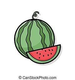 fruits watermelon doodle