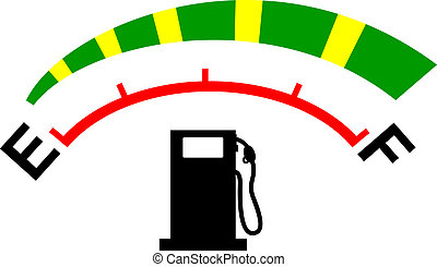 Illustration of a fuel meter with heart