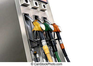fuel pumps isolated on white background