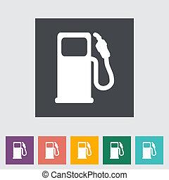 Fuel. Single flat icon. Vector illustration.