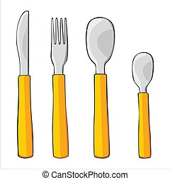 fully editable vector illustration of isolated dishware