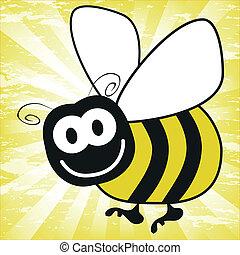 Fun bumble bee vector.