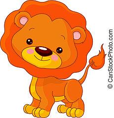 Fun zoo. Illustration of cute Lion