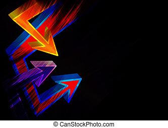 Funky 3D Arrows Layout