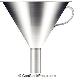 funnel made of stainless steel
