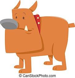 funny bulldog dog cartoon