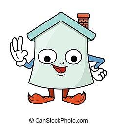 Funny Cartoon Home Character