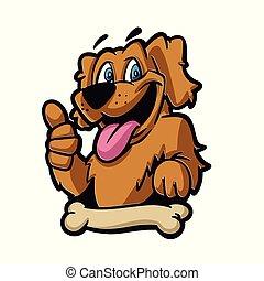 Funny dog and bone