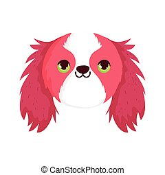 funny dog face pet isolated