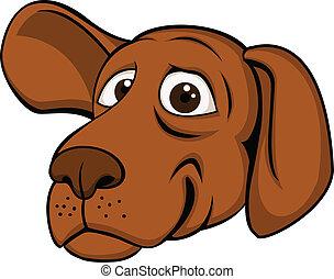 Vector illustration of funny dog head