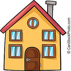 funny house cartoon illustration