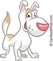 Funny Jack Russel Terrier dog cartoon. Vector illustration.