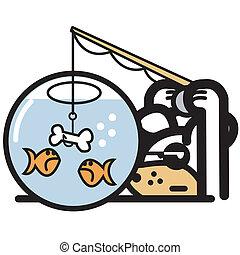 Funny Pet Shop Logo Cartoon Art