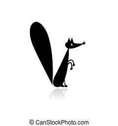 Funny squirrel for your design