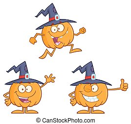 Funny Witch Pumpkin Collection 3