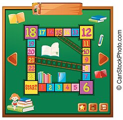 Game template with school items