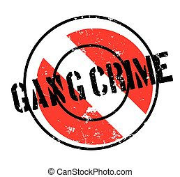 Gang Crime rubber stamp. Grunge design with dust scratches. Effects can be easily removed for a clean, crisp look. Color is easily changed.
