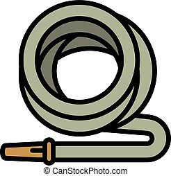 Garden irrigation hose icon, outline style