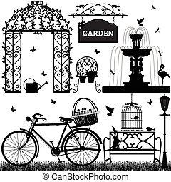 A set of garden stuffs.
