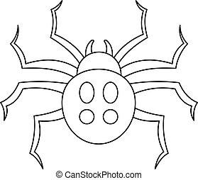 Garden spider icon. Outline garden spider vector icon for web design isolated on white background
