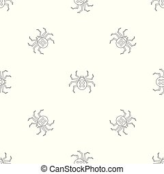 Garden spider pattern seamless vector repeat geometric for any web design