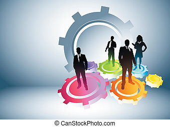 Gears of Success. Business concept vector illustration.