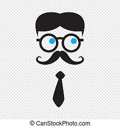 geek cartoon character avatar vector graphic art illustration