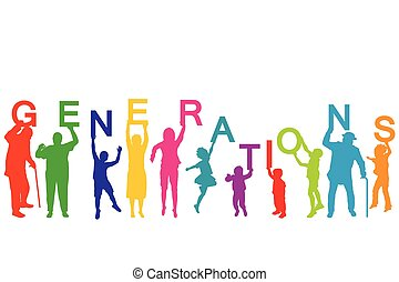Generations concept with people from different ages
