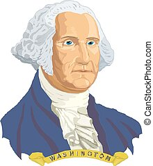 George Washington, the first President of the United States . Vector portrait.