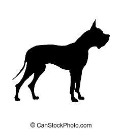 German Great Dane Dog Silhouette