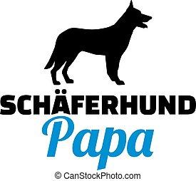 German Shepherd dad german