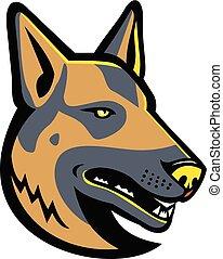 German Shepherd Dog Mascot