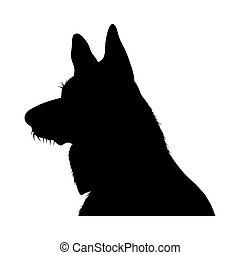 German Shepherd Dog Silhouette