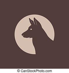 German Shepherd Head Silhouette logo.