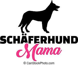 German Shepherd mom german
