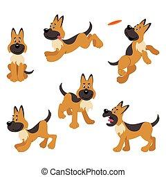German Shepherd Puppy Dog Poses