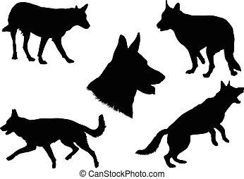 German Shepherd Silhouette Collecti