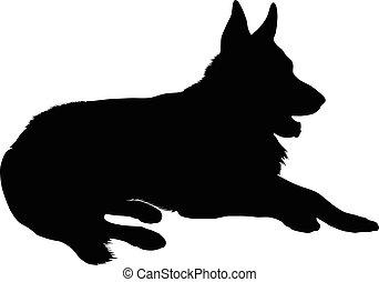 German Shepherd Silhouette
