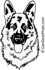German Shepherd Svg Dog